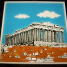 Vintage Greek Handmade Tile PARTHENON Niarchos Hellas