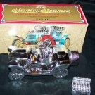 Vintage Stanley Steamer Car Glass Bottle w/Box Full