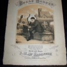 Antique 1867 BELLE MAHONE Cemetary Grave Sheet Music