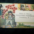 Antique Registered Pharmacist Victorian Chromolithograph Calling Business Card