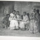 Antique Winslow Homer Sunday Morning Old Virigina Photogravure Art Print