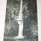 Antique Multnomah Falls~Julian Rix~Photogravure Print