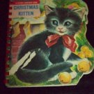 Vintage 1960s CHRISTMAS KITTEN Sturdi-Countour Book
