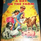 Vintage A DAY ON THE FARM Rand McNally Book-Elf Book by Alf Evers Illustrated by Dorothy Grider