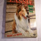 Vtg 1956 LASSIE Magic Paint Coloring Children's Book Whitman