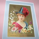 Antique Victorian Trade Card Gold Armant's Perfume Girl