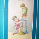 Antique Victorian TRUMPET Trade Card Union Pacific Tea