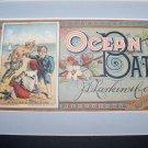 Victorian 1880s OCEAN BATH Larkins Label Chromo Litho