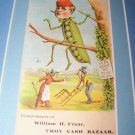 Victorian Trade Card Peas Comic Grocery Chromo Litho