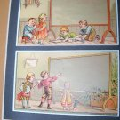 Antique Victorian Trade Card Children Chalkboard Lot 2
