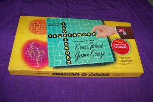 Vintage 1953 Score-A-Word Transogram Board Game