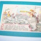 Antique Victorian Trade Card Iron Ware Chromo Litho