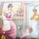 Antique Victorian Trade Card Safe Yeast Mother Children