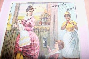 Antique Victorian Trade Card Safe Yeast Mother Children