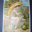 Antique Victorian Trade Card Royal Dutch Cocoa Girl