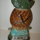 Vintage 1972 Hawaiian Open Hawaii Pineapple United Air Lines Jim Beam Figural Decanter