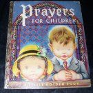 Vintage 1952 PRAYERS FOR CHILDREN A Little Golden Book Eloise Wilkin 1st Ed