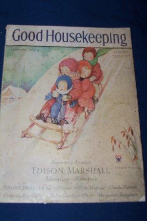Vintage Good Housekeeping Magazine February 1934 Mrs. Vernon Thomas