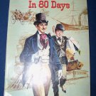 Vintage 1957 Around the World in 80 Days Jules Verne Gold Picture Classic CL-407 PB Book