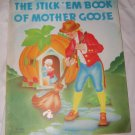 Vintage 1936 STICK 'EM BOOK OF MOTHER GOOSE Sticker Stamp Book