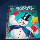 Vintage 1972 FROSTY THE SNOW MAN Little Golden Book Corinne Malverine