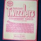 Vintage Y&S Candies Twizzlers Strawberry TwistsTwin Bar Strawberry Twists Box