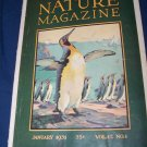 Vintage NATURE Magazine January 1931 vol 17 #1 Emperor Penguin Cover