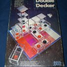 Vintage 1970 DOUBLE DECKER Pressman Strategy 3D Three Dimensional Block Stack Game