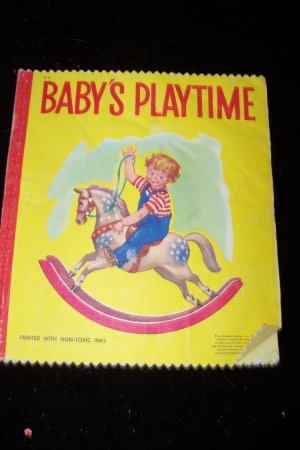 Vintage BABY'S PLAYTIME Mcloughlin Illustrated Linenette Book