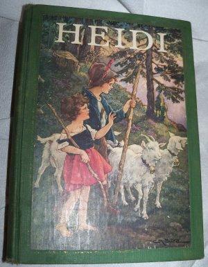 Vintage 1924 HEIDI Johanna Spyri~Clara Burd Illustrated Book