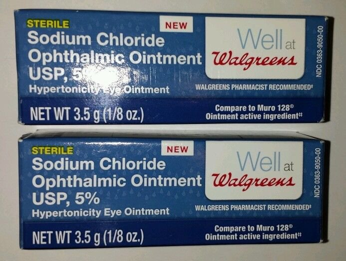 2x Sodium Chloride Hypertonicity Ophtalmic Ointment Compare to Muro 128 5%.FREE shipping! US Seller!