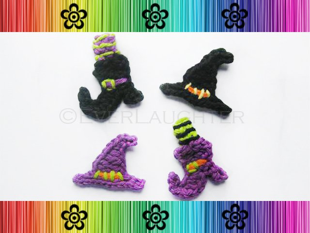Witch's Hat and Boot Applique Pattern