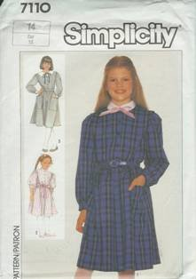 Simplicity Sewing Pattern 7110 Girls Dress 14