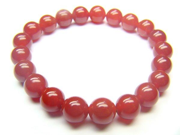 BAGXRS0800C Red Agate Round Shape 8mm Bracelet