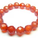 BAGXDO0306X Red Agate Round Shape 10mm Cut Bracelet