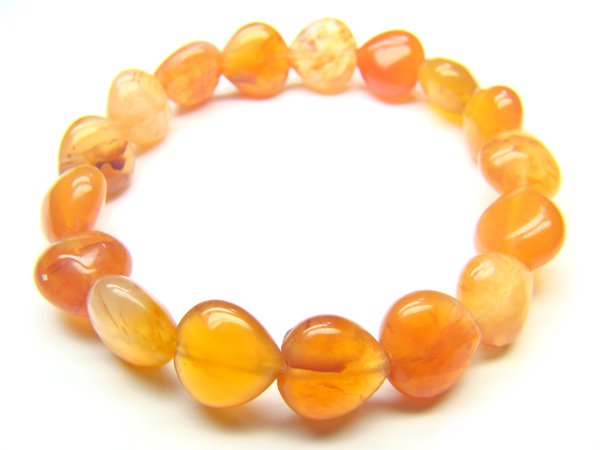 BAGXSS0810X Agate Heart Shape 10mm Bracelet