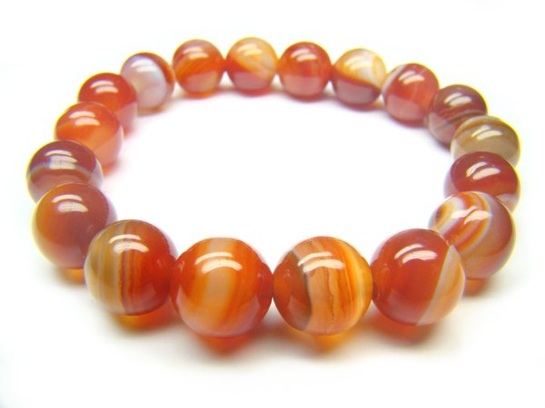 BAGERS1200X Red Agate wt Lace Round Shape 10mm Bracelet