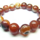 BAGERS1400X Red Agate wt Lace Round Shape 12mm Bracelet