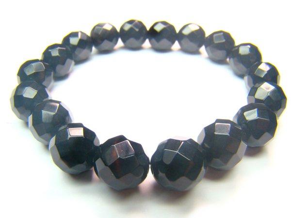 BONXDO0306X Onyx Round Shape 10mm Cut Bracelet