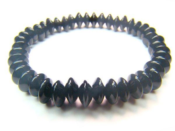 BONXDO0408C Onyx Donut Shape 3x8mm Bracelet