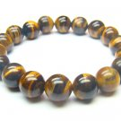 BTEXRS1000C Tiger Eye  Round Shape  10mm Bracelet