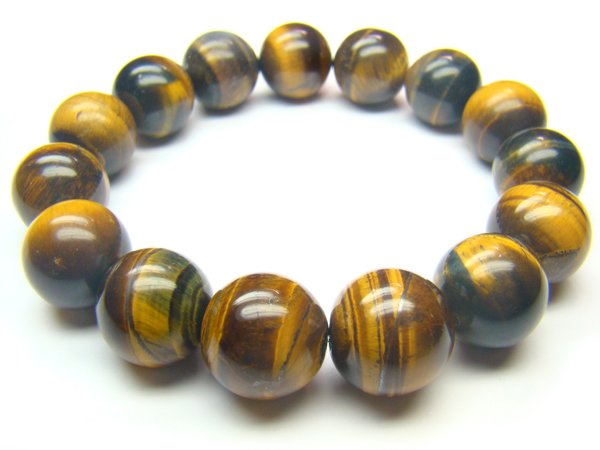 BTEXRS1600X Tiger Eye  Round Shape  14mm Bracelet