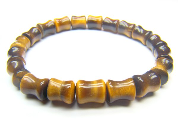 BTEXCY0608X Tiger Eye  Peanut Shape  7x10mm Bracelet