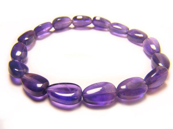 BAMXHS0800X Amethyst  Pear Shape  7x10mm Bracelet