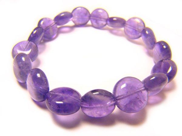 BAMXWH0406C Amethyst  Spere Shape  10mm Bracelet