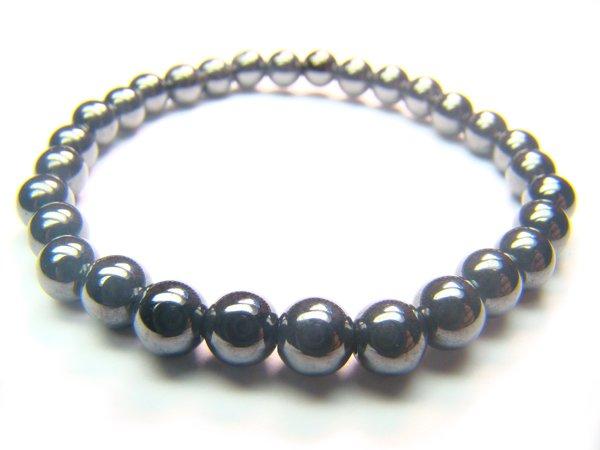 BHEXRS0800X Hematite Round Shape 6mm Bracelet