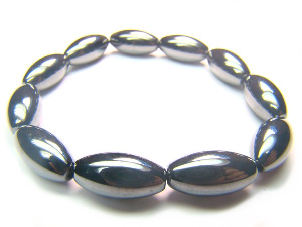 BHEXHS0800X Hematite Rice Shape 8x16mm Bracelet