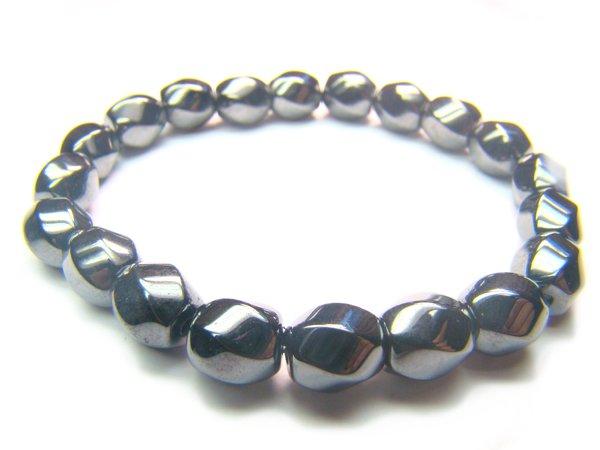 BHEXSS0812X Hematite S-Shape 8mm Bracelet