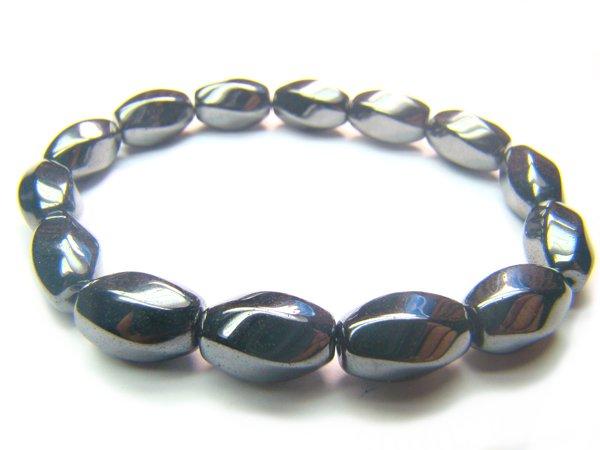 BHEXCY0508C Hematite S-Shape 8x12mm Bracelet