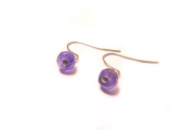 EAMXRE0609X Amethyst  Wheel Shape  4x6mm Cut Earrings